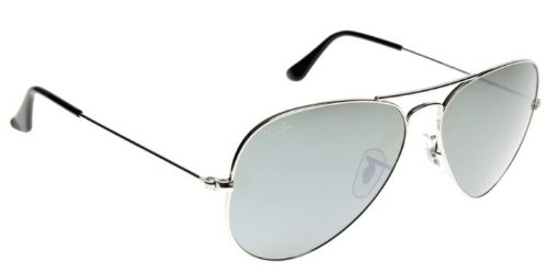 Ray Ban Aviator RB3025 W3277 Silver/Crystal Gray Mirror 58mm - Rb3025 W3277