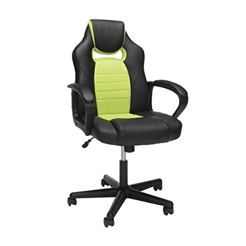 OFM Essentials Collection Racing Style Gaming Chair, in Green (ESS-3083-GRN)