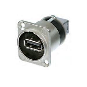 Price comparison product image USB Connectors USBA-USB B A Adapter Fdthru Black (5 pieces)