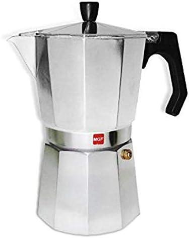 M MAGEFESA - Cafetera modelo KENIA de aluminio grueso - Pomo y Mangos ergonómicos de baketila toque frio, 6 Tazas: Amazon.es: Hogar