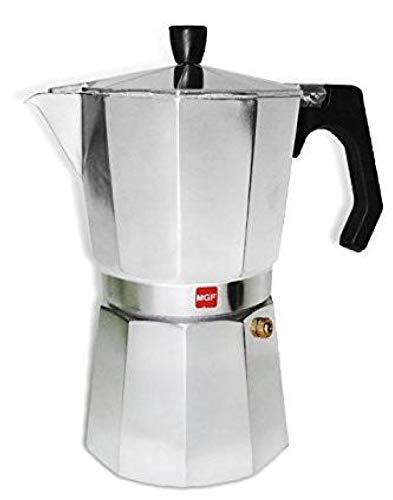 M MAGEFESA – Cafetera modelo KENIA de aluminio grueso – Pomo y Mangos ergonómicos de baketila toque frio, 6 Tazas