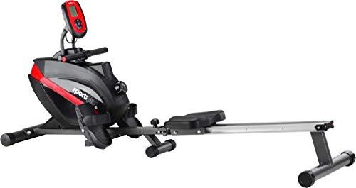 SportPlus Máquina de Remo Plegable para Casa – Ordenador de Entrenamiento y Ajustable con 8 Niveles – Sistema de Freno…