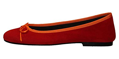 Ballerinas in Wildleder Rot Orange Sansibar Wxn8nPRz0