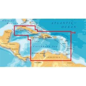 Magellan MapSend BlueNav XL3 Charts for Meridian Caribbean Saltwater Map microSD Card