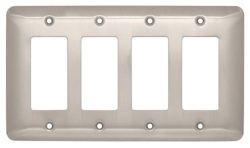 Brainerd 126443 Stamped Steel Round Quad Decorator Wall Plat
