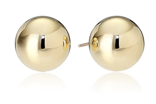 14k Yellow Gold Ball Stud Earr