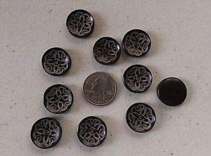 (JumpingLight Lot of 10 KNOTBOW Laser Etched 2-Hole Wood Buttons 3/4