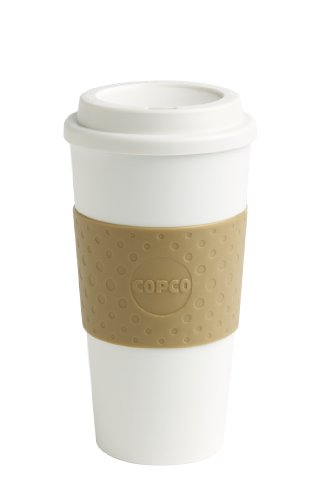 Copco 16-Ounce Capacity Acadia Reusable To Go Mug, Tan