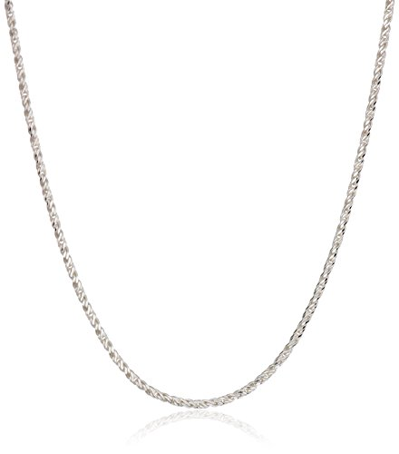 Sterling Silver 1.2mm Sparkle Chain Necklace, 20