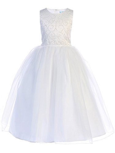 Swea Pea and Lilli Girls Communion Dress Flower Girl Pageant Wedding Party Dress (6) by Swea Pea & Lilli