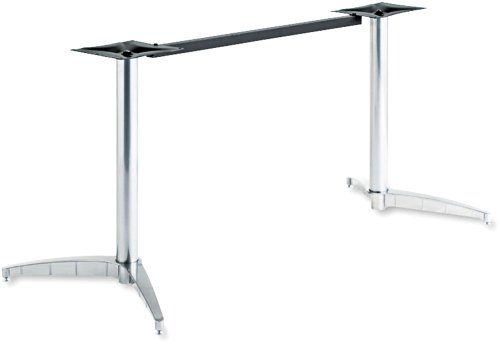 - Iceberg ICE65140 OfficeWorks Rectangular Deluxe Aluminum Table Base Only, Chrome Finish - Table Top Sold Separately