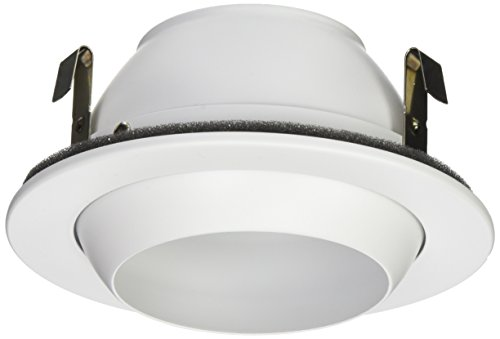 NICOR Lighting 4-Inch Adjustable Eyeball Recessed Trim, White (White Eyeball Recessed Light Trim)
