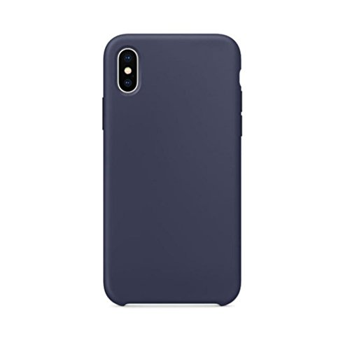 Livoty For iPhone X Case New Official Soft Silicone Case Cover For IPhone X Boxed (Blue)