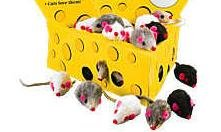 Zanies Realistic Mice Cat Toys - Hours of Fun - Set of 6
