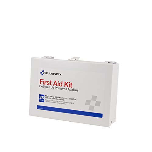 Pac-Kit by First Aid Only 6100, 144 Piece ANSI Plus, 25 Person First Aid Kit With Steel Case
