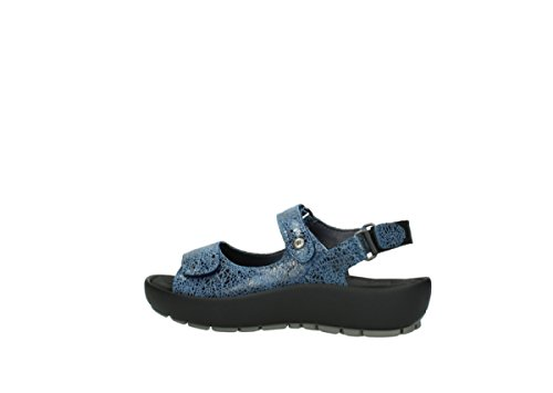 Wolky Womens 3325 Rio Leather Sandals Azul - azul
