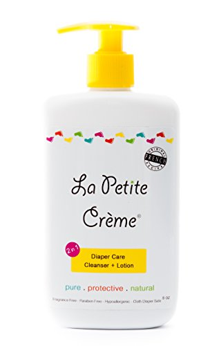 La Petite Creme - 100% Natural 2-in-1 Diaper Care Cleanser & Lotion - Liniment (8 Oz Everyday Bottle with Dispensing Pump) by La Petite Creme