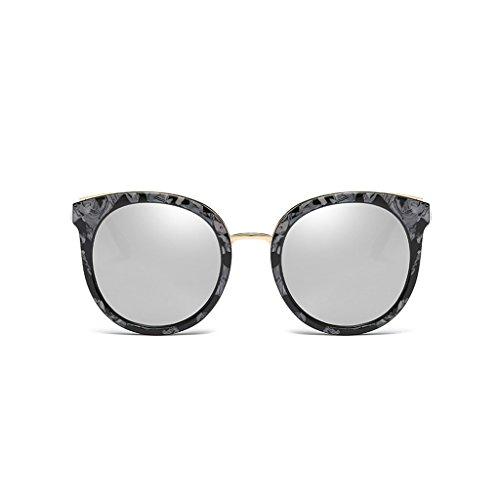Gafas Hipster de Sol Avant Retro de Polarized Frame Sol HD Driving Color de Sunscreen Gafas Gafas Personalidad D Garde Redondas C Sol Big rWCPWA