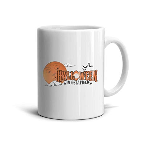 DoorSignHHH Halloween in Delafield Simple Coffee Mug Personalized White Ceramic Souvenir Reusable Large Coffee Cup -