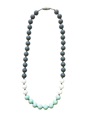 Itzy Ritzy Teething Happens Bead Necklace, Mint