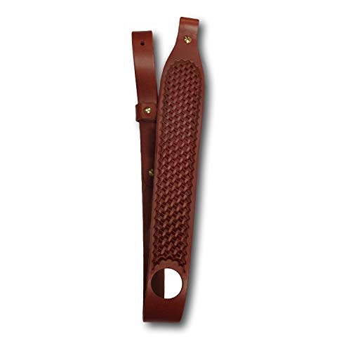 - Southern Trapper Genuine Leather Rifle Sling with Basketweave - Adjustable - 100-Year Warranty
