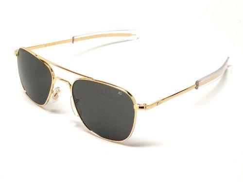 678b5ba6cc AO American Optical Original Pilot Sunglasses Gold 55mm Bayonet Temples  (B00786Y6RC)