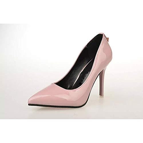 Fuchsia Light Comfort Pink Spring Polyurethane Summer Heels Grey Stiletto PU Shoes Women's ZHZNVX Fuchsia Heel amp; 67nq0ZnH