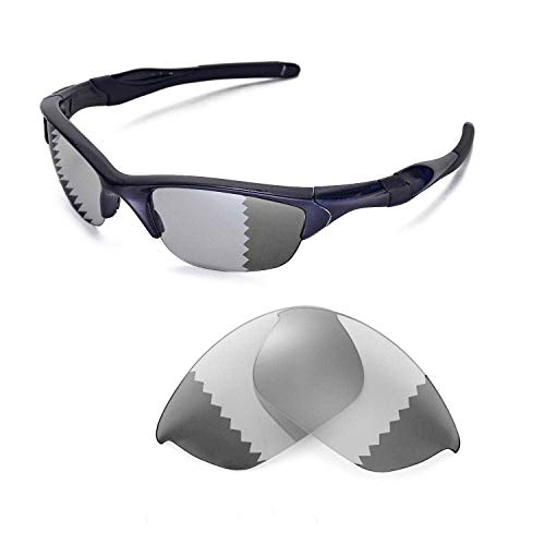 - Walleva Replacement Lenses for Oakley Half Jacket 2.0 Sunglasses -Multiple Options Available (Transition/photochromic - Polarized)