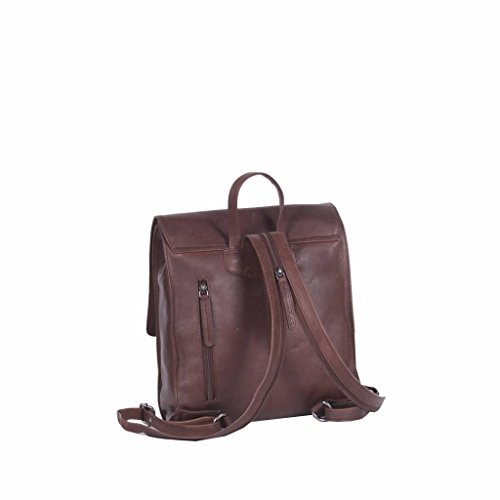 Brand à Chesterfield Cuir Isa Dos cm Sac The 30 City Braun 5ngwPXqWx1