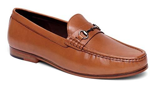 - Anthony Veer Men's FILMORE Classic Bit Loafers Leather Slip-on Luxury Comfort (11 D, Walnut Full Grain Calfskin Leather)
