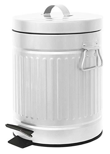 Home Expressions Retro Step Bin Trash Can 1.3 Gallon 5 Liters - Retro 5l Pedal Bin