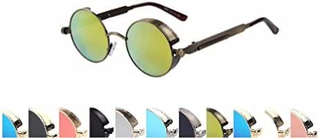 Retro Mirrored Steampunk Fashion Sunglasses