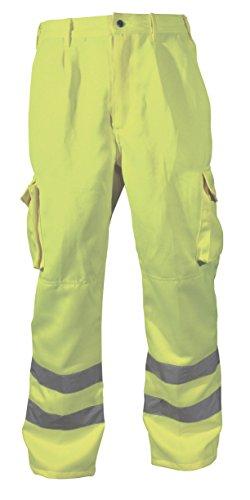 Blackrock Herren Hi-Vis Polycotton Lange Hose–gelb, 96,5cm