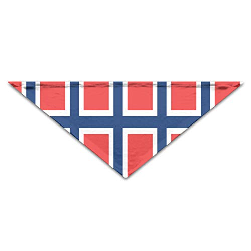 HFXFM Flag of Norway Neck Scarf Tie Slobber Pet Collar Adjustable Trriangula Bandana Breed Soft