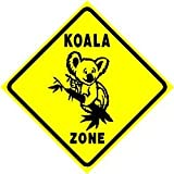 KOALA ZONE sign * street animal zoo bear