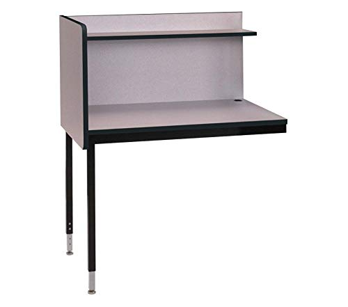 Wood & Style Furniture Single Modular Carrel Wild Cherry Premium Office Home Durable Strong