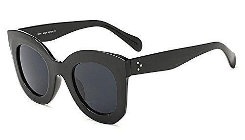 Vintage Leopard D Lunette noir en soleil noir Femmes Lunettes marque Nouveau de de Lunettes Oculos soleil Femme de AO3008 Eye Lunettes Cat Zygeo femmes Gris pour luxe Grand Cadre qw4F0SIx