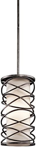 Kichler 42466WMZ Krasi Pendant, 1 Light Incandescent 100 Watts, Warm Bronze
