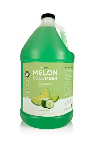 Bark 2 Basics Melon Cucumber Dog Shampoo, 1 Gallon – Unique Herbal Blend, Protects, Repairs, and Nourishes, Delivers…