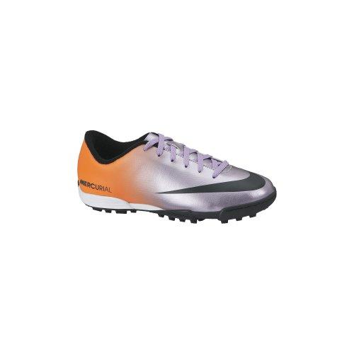 Nike Jr Mercurial Vortex TF - Zapatillas de fútbol para unisex Plateado / Negro / Naranja