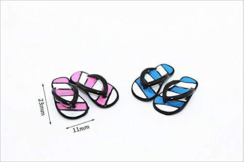 NWFashion 4Pairs Stripe Slipper Miniature Size Dollhouse Furniture Accessories