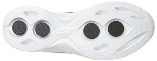 Skechers Go Walk 4 A.d.c, Baskets Basses Femme, Gris Noir/Blanc