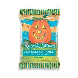 Russell Stover Milk Chocolate Sea Salt Caramel Pumpkin, 1 Ounce, 36 Count by Russell Stover