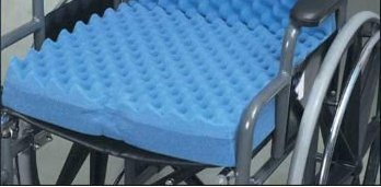 - Eggcrate Wheelchair Cushion 16inx18inx3in (Approx size)