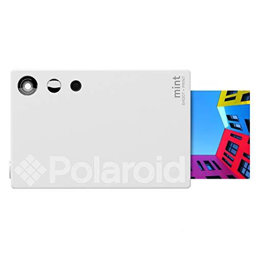 Zink Polaroid Mint Instant Print Digital Camera (White), Prints on Zink 2×3 Sticky-Backed Photo Paper