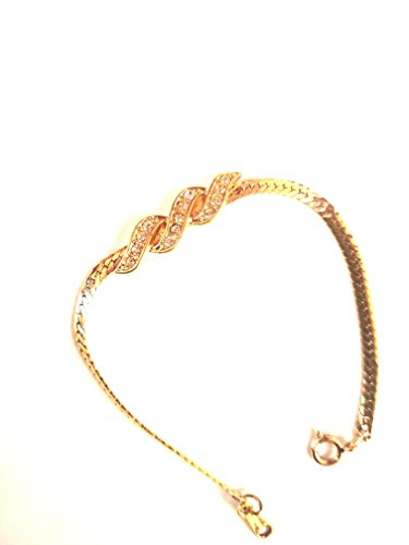 Avon Vintage Bracelet - Gold Colored Bracelet Avon Collectible - Approx 6.5