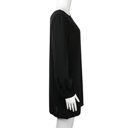 Damen Kleid Huhu833 Damen Arbeitskleidung kleidet beiläufige lange ...