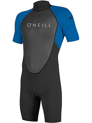 - O'Neill Youth Reactor-2 2mm Back Zip Short Sleeve Spring Wetsuit, Black/Ocean, 12