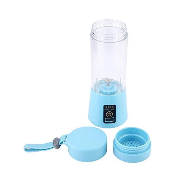 Nitrip USB portatile rosa/azzurro elettrico elettrico succo frullatore macchina succo estrattore doppia lama(Cielo blu) 1 spesavip
