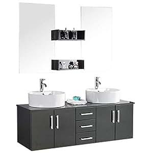 Muebles para baño para cuarto de baño con espejo baño 150 ...
